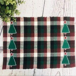 Martha Stewart Christmas Red Green Plaid Placemat